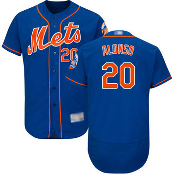 Mets #20 Pete Alonso Blue Flexbase Authentic Collection Stitched Baseball Jersey