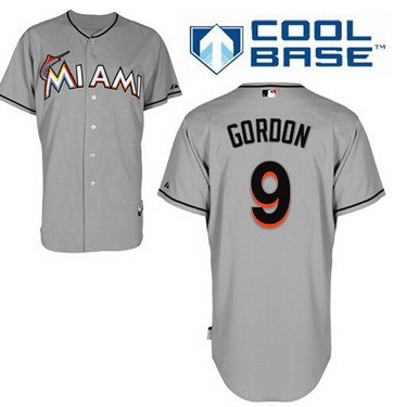 Miami Marlins #9 Dee Gordon Gray Jersey