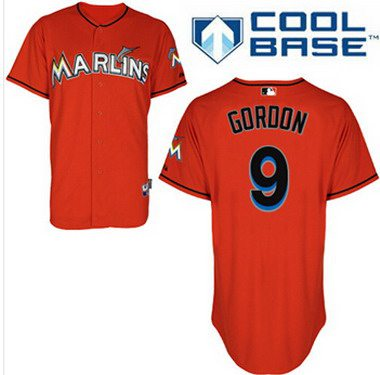 Miami Marlins #9 Dee Gordon Orange Jersey