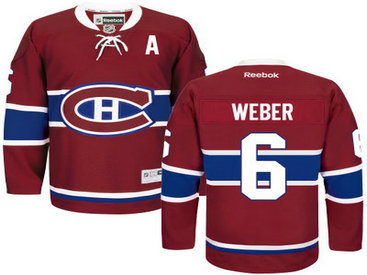 Montreal Canadiens #6 Shea Weber Red Reebok Men's Home Hockey
