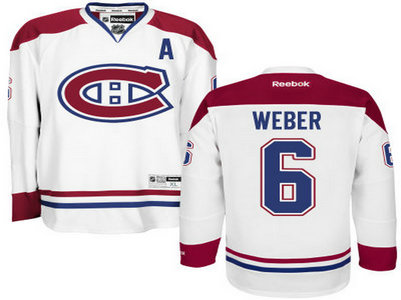 Montreal Canadiens #6 Shea Weber White Reebok Men's Hockey Jersey