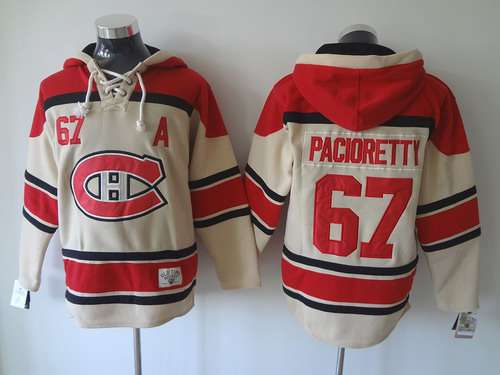 Montreal Canadiens #67 Max Pacioretty Old Time Hockey Cream Hoodie