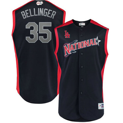 National League 35 Cody Bellinger Navy 2019 MLB All-Star Game Workout Player Jersey