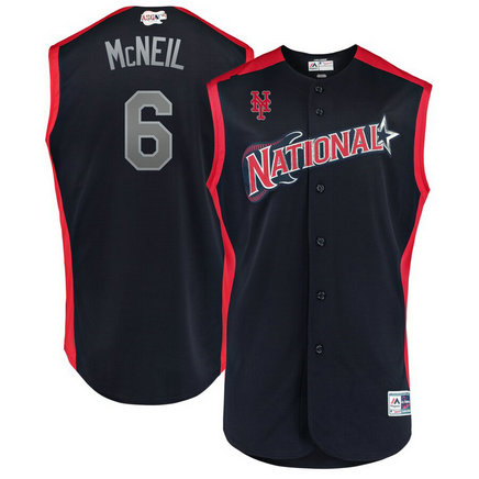 National League 6 Jeff McNeil Navy 2019 MLB All-Star Game Workout Player Jersey
