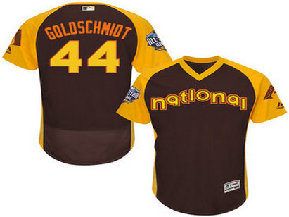 National League Arizona Diamondbacks #44 Paul Goldschmidt Brown 2016 All-Star Jersey - Men's
