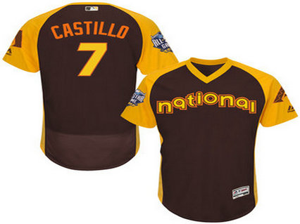 National League Arizona Diamondbacks #7 Welington Castillo Brown 2016 All-Star Jersey - Men's