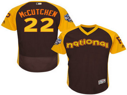 National League Pittsburgh Pirates #22 Andrew McCutchen Brown 2016 All-Star Jersey - Men's