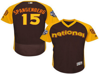 National League San Diego Padres #15 Cory Spangenberg Brown 2016 All-Star Jersey - Men's