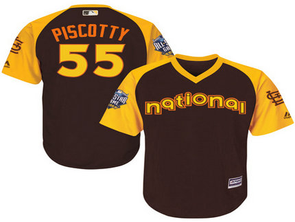 National League St. Louis Cardinals #55 Stephen Piscotty Brown 2016 MLB All-Star Jersey - Men's