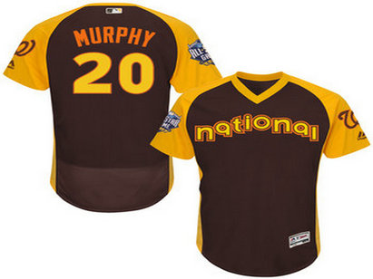National League Washington Nationals #20 Daniel Murphy Brown 2016 All-Star Jersey - Men's