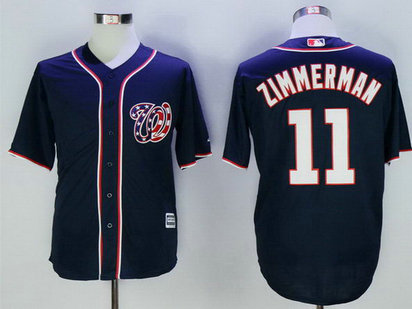 Nationals 11 Ryan Zimmerman Navy New Cool Base Jersey