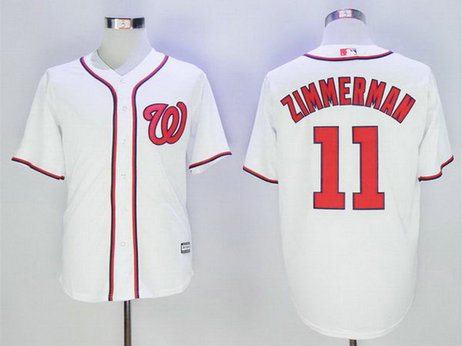 Nationals 11 Ryan Zimmerman White New Cool Base Jersey