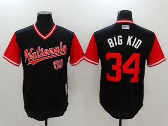Nationals 34 Bryce Harper Big Kid Majestic Navy 2017 Players Weekend Nickname Jersey