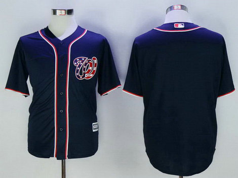 Nationals Blank Navy New Cool Base Jersey
