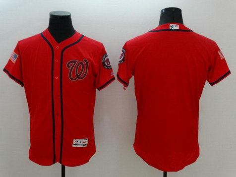 Nationals Red Fashion Stars & Stripes Flexbase Jersey
