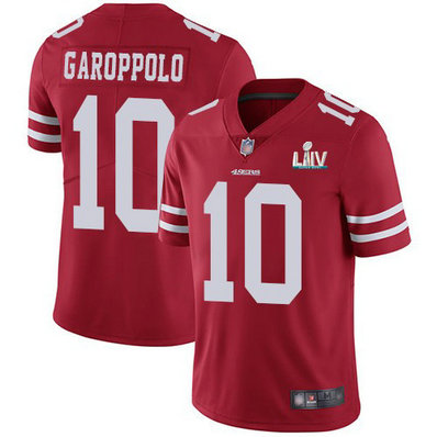 Nike 49ers 10 Jimmy Garoppolo Red 2020 Super Bowl LIV Vapor Untouchable Limited Jersey