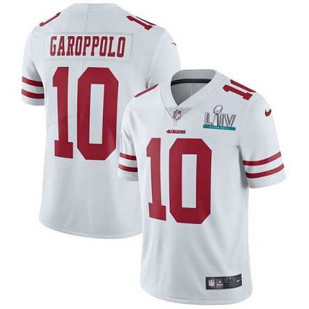 Nike 49ers 10 Jimmy Garoppolo White 2020 Super Bowl LIV Vapor Untouchable Limited Jersey