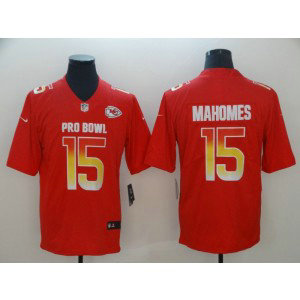 Nike AFC Chiefs 15 Patrick Mahomes Red 2019 Pro Bowl Game Men Jersey