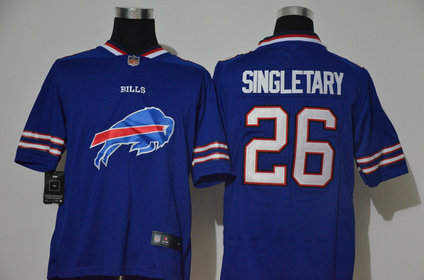 Nike Bills 26 Devin Singletary Royal Team Big Logo Vapor Untouchable Limited Jersey