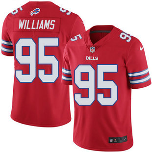 Nike Bills 95 Kyle Williams Red Color Rush Limited Jersey