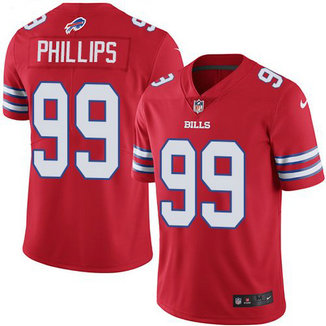 Nike Bills 99 Harrison Phillips Red Color Rush Limited Jersey