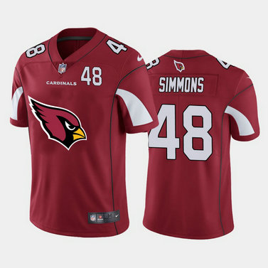 Nike Cardinals 48 Isaiah Simmons Red Team Big Logo Number Vapor Untouchable Limited Jersey