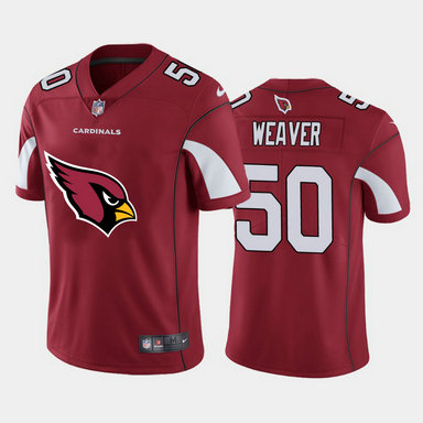 Nike Cardinals 50 Evan Weaver Red Team Big Logo Vapor Untouchable Limited Jersey