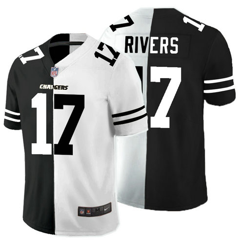 Nike Chargers 17 Philip Rivers Black And White Split Vapor Untouchable Limited Jersey