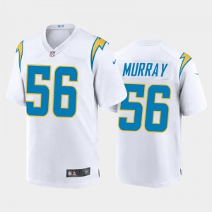 Nike Chargers 56 Kenneth Murray White 2020 NFL Draft Vapor Limited Men Jersey