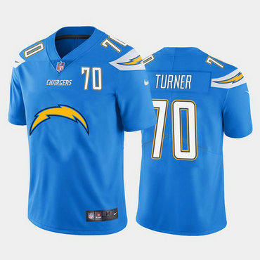 Nike Chargers 70 Trai Turner Blue Team Big Logo Number Vapor Untouchable Limited Jersey