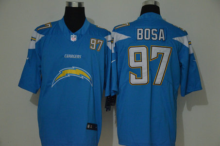 Nike Chargers 97 Joey Bosa Blue Team Big Logo Number Vapor Untouchable Limited Jersey