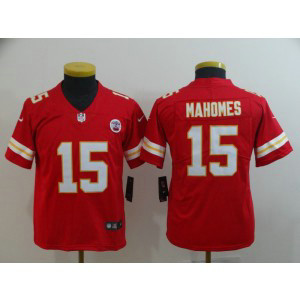 Nike Chiefs 15 Patrick Mahomes Red Vapor Untouchable Limited Youth Jersey