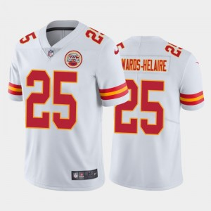 Nike Chiefs 25 Clyde Edwards-Helaire White 2020 NFL Draft Vapor Limited Men Jersey