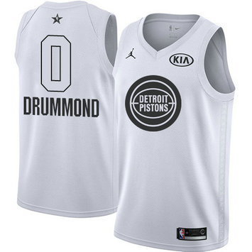 Nike Men's Pistons #0 Andre Drummond White NBA Jordan Swingman 2018 All-Star Game Jersey