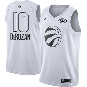 Nike Men's Raptors #10 DeMar DeRozan White NBA Jordan Swingman 2018 All-Star Game Jersey