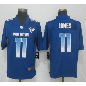 Nike NFC Falcons 11 Julio Jones Royal 2019 Pro Bowl Game Men Jersey