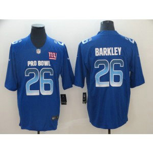 Nike NFC Giants 26 Saquon Barkley Royal 2019 Pro Bowl Game Men Jersey