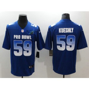 Nike NFC Panthers 59 Luke Kuechly Royal 2019 Pro Bowl Game Men Jersey