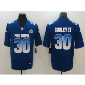 Nike NFC Rams 30 Todd Gurley II Royal 2019 Pro Bowl Game Men Jersey