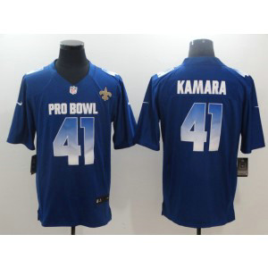 Nike NFC Saints 41 Alvin Kamara Royal 2019 Pro Bowl Game Men Jersey