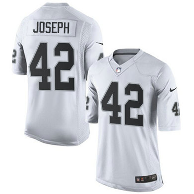 Nike Raiders #42 Karl Joseph White Team Color Youth Stitched NFL Game Jersey