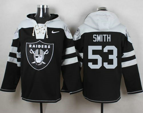Nike Raiders #53 Malcolm Smith Black Player Pullover NFL Hoodie