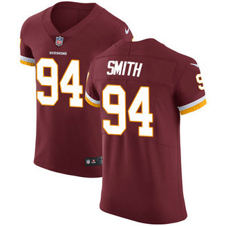 Nike Redskins Men's #94 Preston Smith Burgundy Stitched Red Team Color NFL Vapor Untouchable Elite Jersey