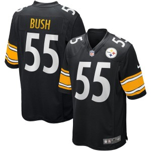 Nike Steelers 55 Devin Bush Black 2019 NFL Draft Elite Men Jersey