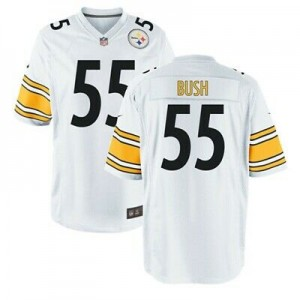 Nike Steelers 55 Devin Bush White 2019 NFL Draft Elite Men Jersey