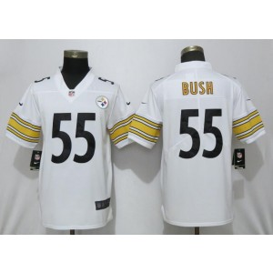 Nike Steelers 55 Devin Bush White 2019 NFL Draft Vapor Untouchable Limited Youth Jersey