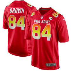 Nike Steelers 84 Antonio Brown Red AFC 2018 Pro Bowl Game Jersey
