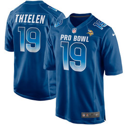 Nike Vikings 19 Adam Thielen Royal NFC 2018 Pro Bowl Game Jersey