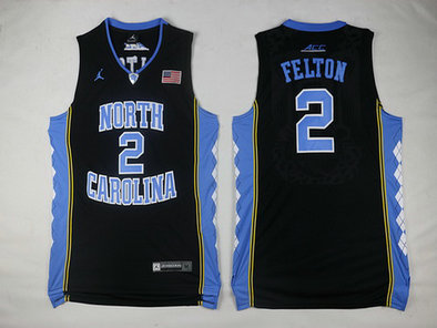 North Carolina Tar Heels #2 Jalek Felton Black Soul Swingman Basketball