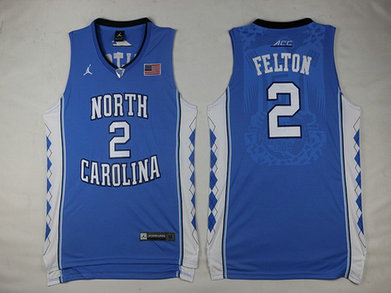 North Carolina Tar Heels #2 Jalek Felton Light Blue Soul Swingman